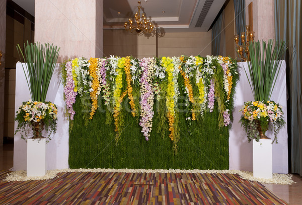 flowers backdrop decorate for wedding ceremony Stock photo © Suriyaphoto