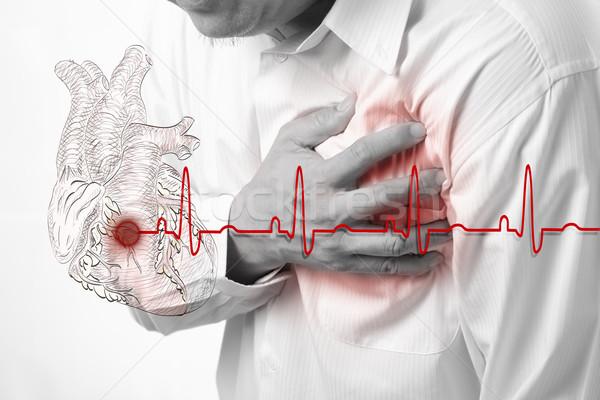 сердечный приступ сердце здоровья бизнесмен мужчин Сток-фото © Suriyaphoto