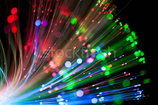 óptico fibra iluminación luz arte red Foto stock © Suriyaphoto