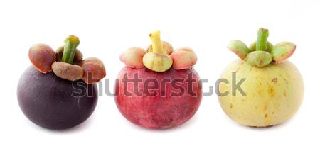 Meyve pazar taze mor kesmek sağlıklı Stok fotoğraf © Suriyaphoto