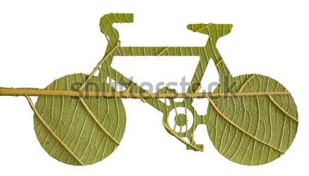 Pushbike from green leave, eco concept Stock photo © Suriyaphoto
