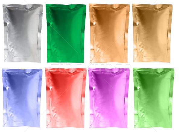 Alüminyum çanta film arka plastik paket Stok fotoğraf © Suriyaphoto