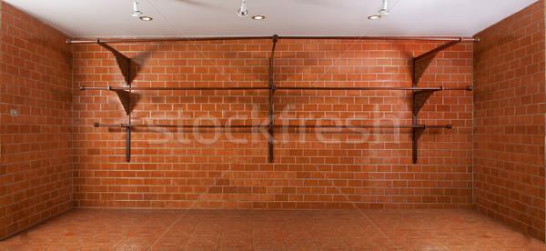 Red brick show room Stock photo © Suriyaphoto