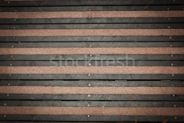 Ahşap yürümek yol doku ağaç duvar Stok fotoğraf © Suriyaphoto