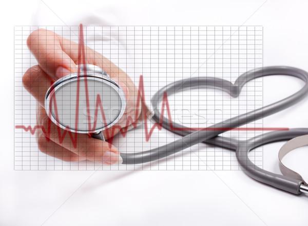 Feminino mão estetoscópio médico Foto stock © Suriyaphoto
