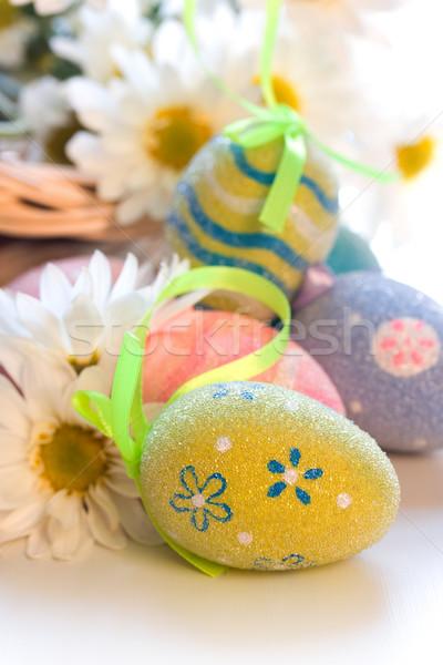 Paaseieren bloem voorjaar ei daisy Stockfoto © susabell