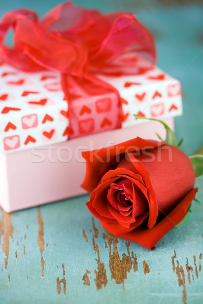Valentine's day gift box with rose Stock photo © susabell