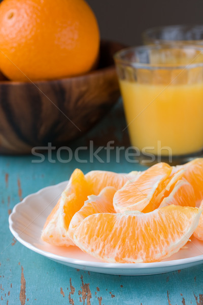 orange slices and orange juice  Stock photo © susabell
