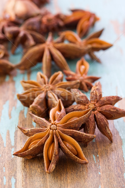 close up of anise aniseed star Stock photo © susabell