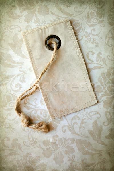 Vintage tag design antique vide Photo stock © susabell