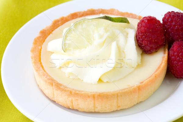 Anahtar kireç pasta gıda yeşil plaka Stok fotoğraf © susabell