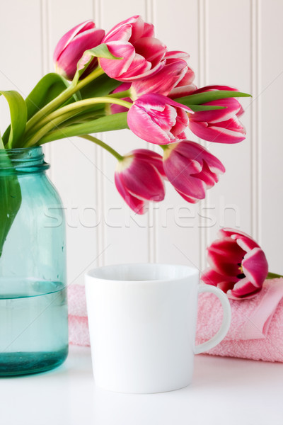Coffee and flowers  Stock photo © susabell