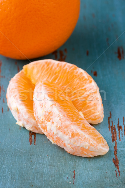 Orange tranches alimentaire Photo stock © susabell