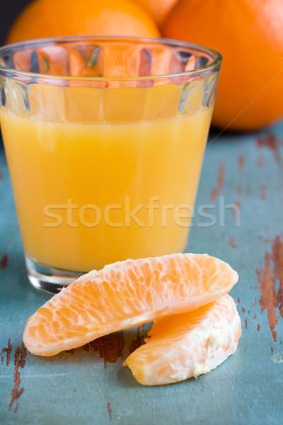 Glas sinaasappelsap vruchten oranje drinken sap Stockfoto © susabell