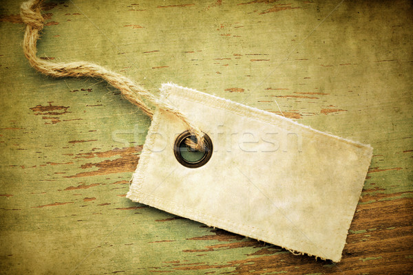 Stock photo: Old blank tag