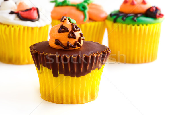 Halloween cupcakes Stock photo © susabell
