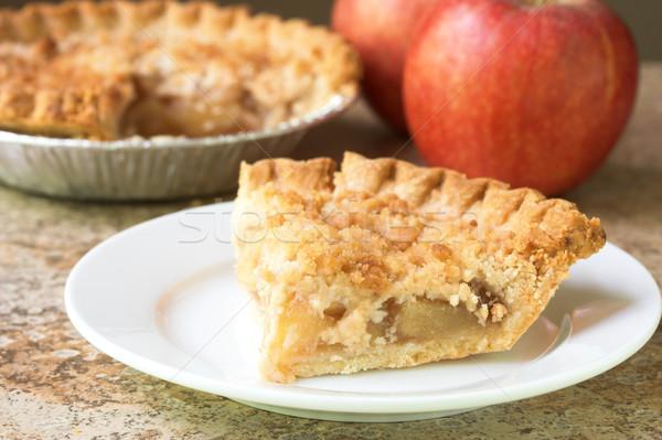 Tranche tarte aux pommes alimentaire pomme dessert fraîches Photo stock © susabell