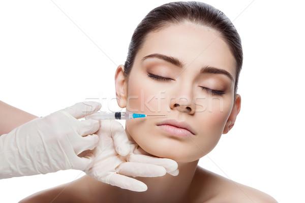 Femme collagène injection belle jeune femme beauté Photo stock © svetography
