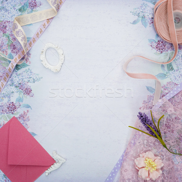 set of scrapbooking materials  Stock photo © svetography