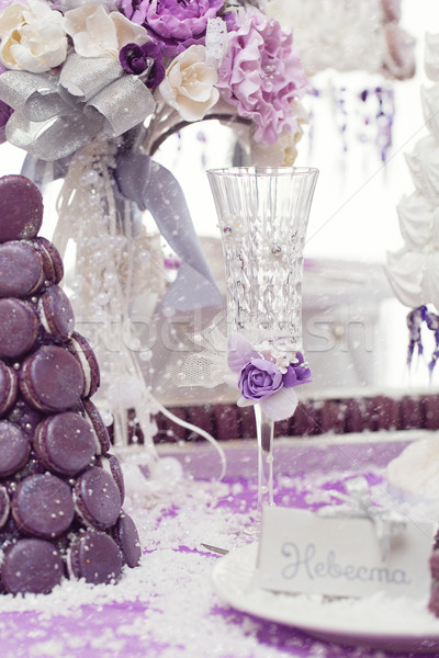 Bridal champagne glass Stock photo © svetography