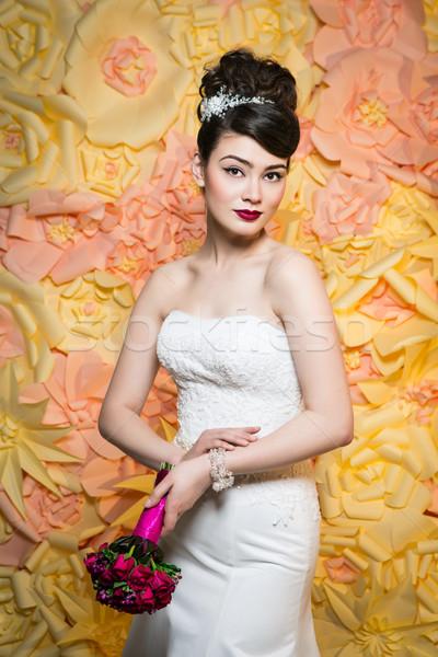 Beautiful girl belo morena mulher jovem branco Foto stock © svetography