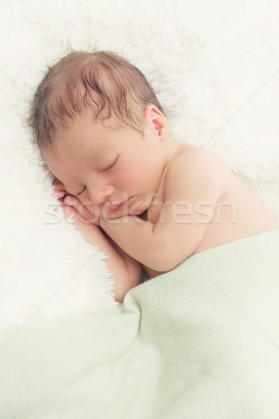 Sleeping newborn baby Stock photo © svetography