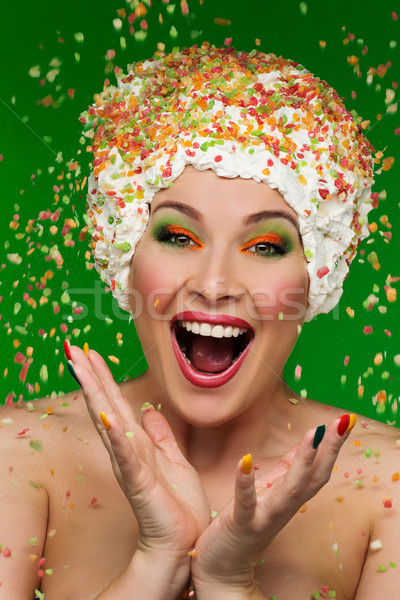 Portrait of woman with colorful makeup Stock photo © svetography
