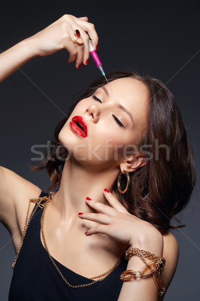 girl getting beauty injection Stock photo © svetography
