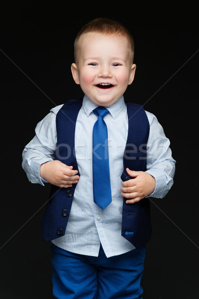 Fashion little boy in tie Stock photo © svetography