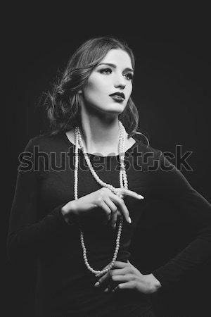 Bella buio trucco primo piano ritratto Foto d'archivio © svetography