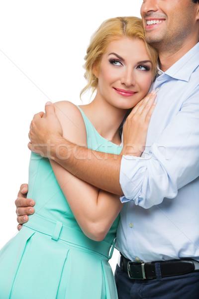 Belo casal loiro mulher jovem Foto stock © svetography