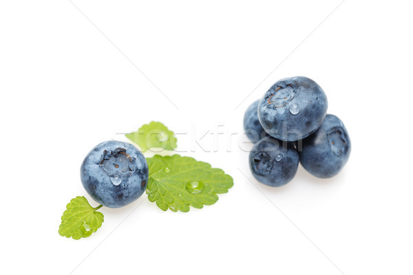 blueberry berries isolated on white background Stock photo © svetography