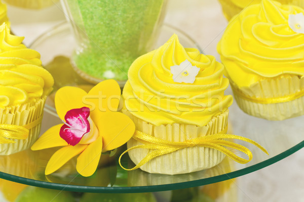 Yellow cupcakes Stock photo © svetography