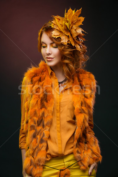 Stock photo: Autumn style girl