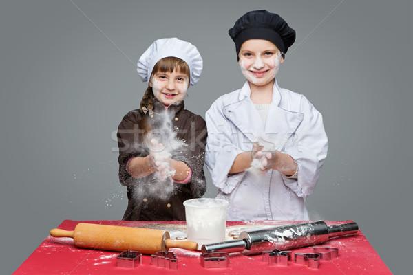 çocuklar Noel zencefilli çörek güzel erkek Stok fotoğraf © svetography