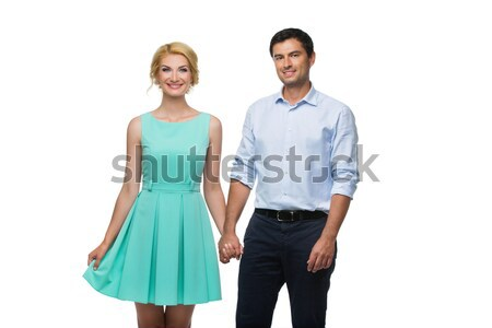 Beautiful couple holding hands Stock photo © svetography
