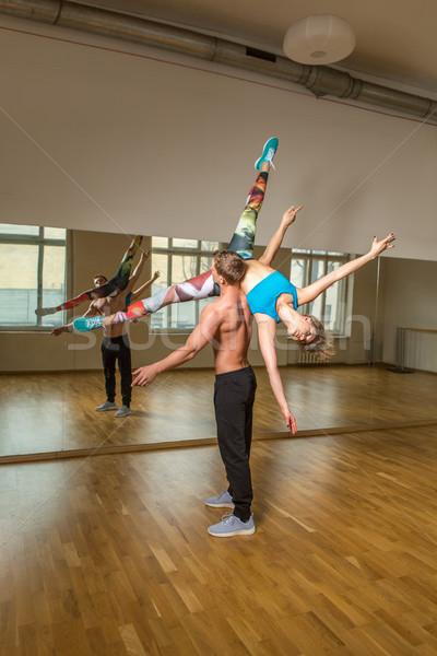 modern dancers practicing in dance studio Stock photo © svetography