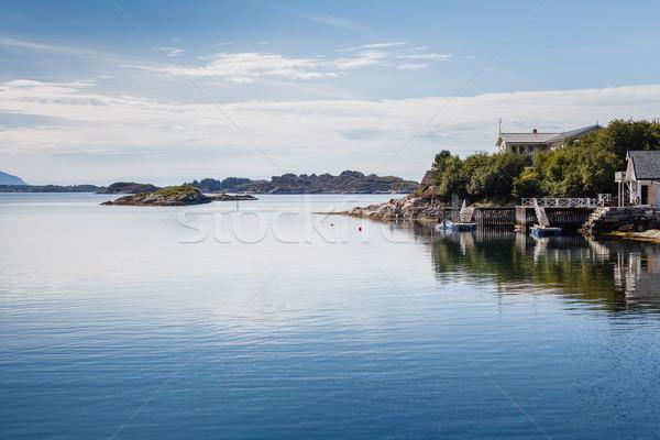 Piękna widoku spokojne sceny wody charakter morza Zdjęcia stock © svetography
