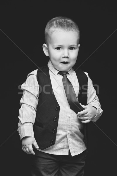 Business boy in tie Stock photo © svetography