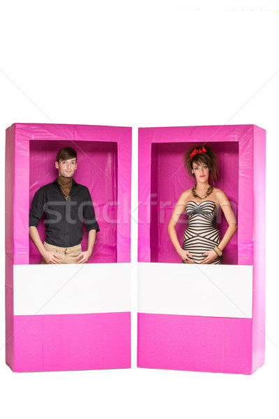 Junge Mädchen Puppen Feld schönen Stock foto © svetography