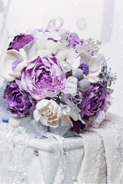 Beautiful purple bridal bouquet Stock photo © svetography