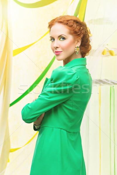 Beautiful stylish girl Stock photo © svetography