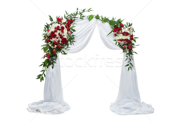 flower arch wedding decoration Stock photo © svetography