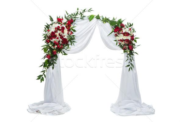 Fiore arch wedding decorazione bella rose Foto d'archivio © svetography