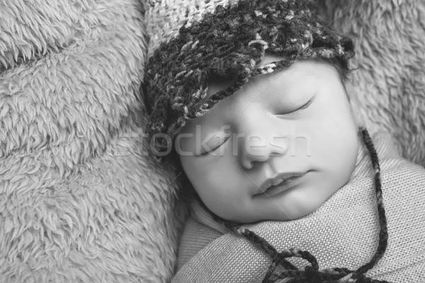 Foto stock: Bonitinho · recém-nascido · bebê · belo