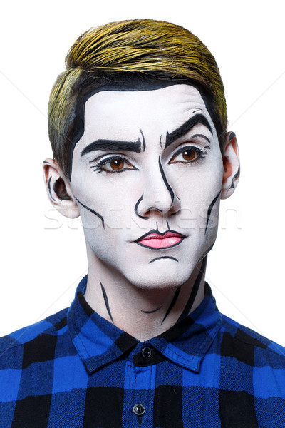 young man with pop art makeup Stock photo © svetography