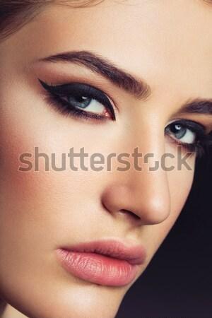 Bella ragazza cat primo piano ritratto bella Foto d'archivio © svetography