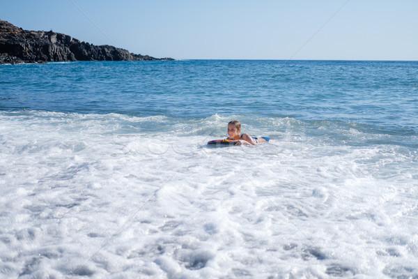 девушки плаванию совета океана красивая девушка Тенерифе Сток-фото © svetography