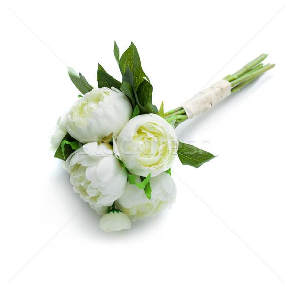 peony flowers isolated on white Stock photo © svetography