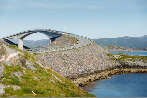 atlantic road bridge in Norway Stock photo © svetography